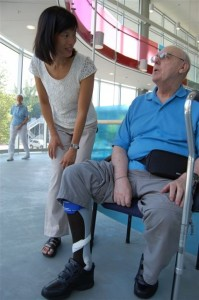 Dr. Janice Eng and a research participant in the Blusson Spinal Cord Centre