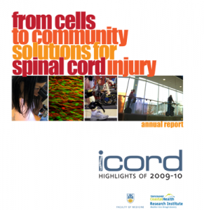 ICORD Annual Report 2009-10 cover image