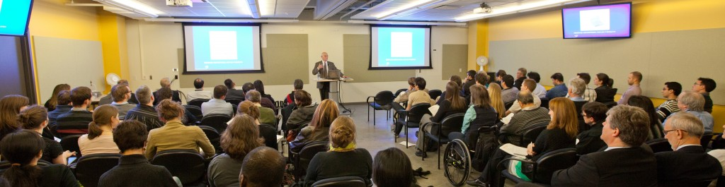 Dr. Charles Tator presents the first plenary lecture at ICORD's Annual Research Meeting in February, 2012