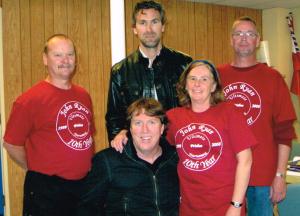 L-R: Glen Antoski, John Ryan, Trevor Linden, Kim Worthington, Bill Gridley
