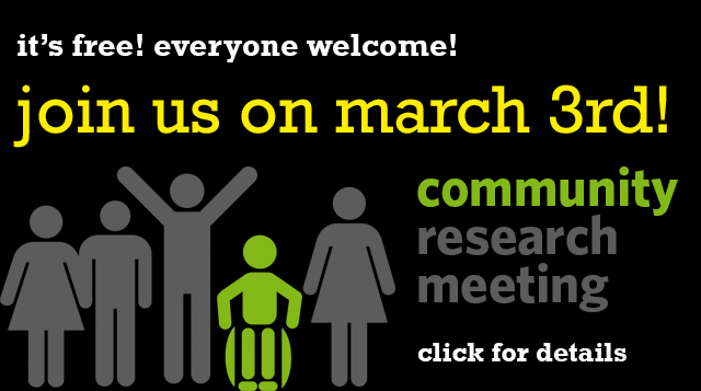 homepage - community research mtg