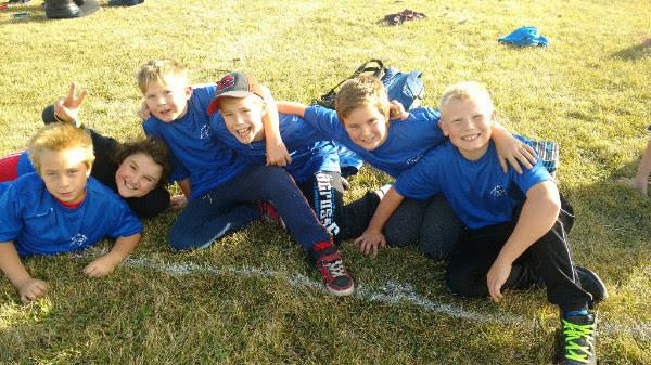 Vanderhoof kids on a sports field raising money