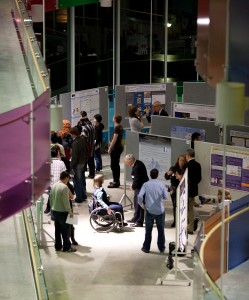 The poster session at ICORD's Annual Research Meeting in February 2012