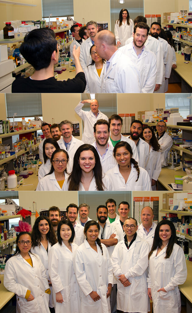 Members of the Granville Lab pose for group photo